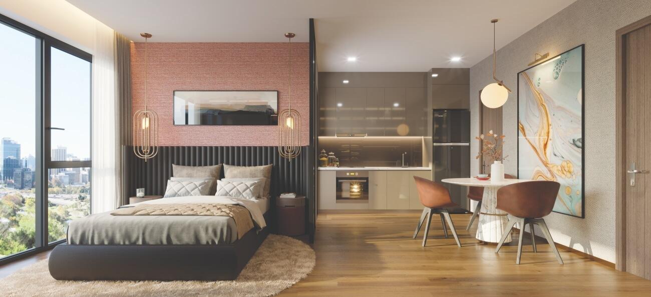 Thiết kế không gian phòng ngủ Matrix One Mễ Trì